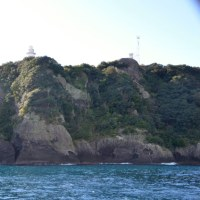 遊覧船で奥石廊崎