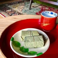朝の時間 「柿の葉寿司」