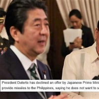 ドゥテルテ大統領が安倍首相の「フィリピンにミサイルを供与する」という提案を辞退。理由が痛快だ