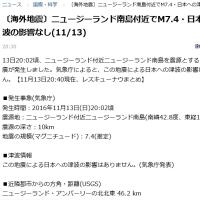 スーパームーンと地震???