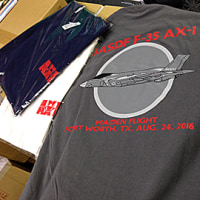 F-35 AX-1初飛行Tシャツ発送開始!