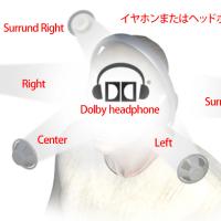 ステレオイヤホン でサラウンド感が得られる Dolby headphone