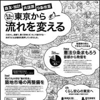 6月23日都議選告示、日本の未来が問われる選挙です、都内在住の知人の皆様へ声をかけてください