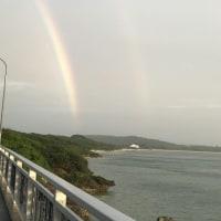 梅雨のあいまの虹