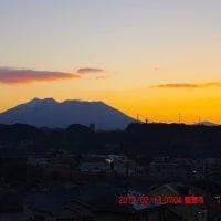 2017年02月13日、朝の桜島