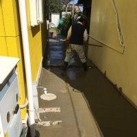 茨城 緊急対応 犬走りコンクリート打設 臨機応変な行動