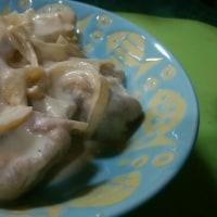娘、「鶏のマヨぽん炒め」を作る。