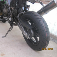 KSR110(124)タイヤ交換