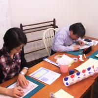 そらまめ工房 ペーパークラフト教室 4月14日(金)お教室の様子