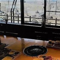 CB250エクスポート 大笹牧場でジンギスカンの朝食を食べました。5月5日