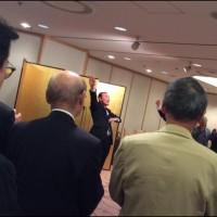 柳谷先輩の明治大学理事長就任祝いパーティー