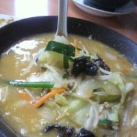 幸楽苑野菜味噌ラーメンと餃子のセット