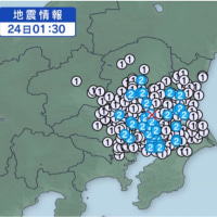深夜の地震