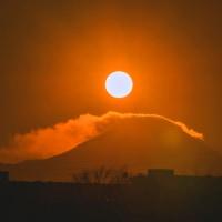 1月16日 【平山橋】からのダイヤモンド富士?