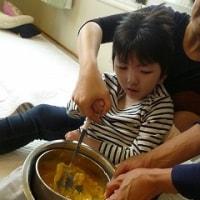 調理実習「かぼちゃクリームドリア」