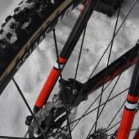 雪のビーナスラインを自転車で走り、午後の森でホッと一息。
