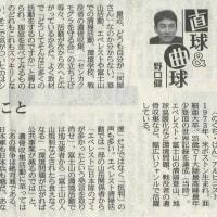 【アルピニスト 野口健さんの新聞記事に感動! 社会貢献活動、それぞれ思いはあるけれど・・・】
