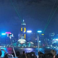 香港のシンフォニー・オブ・ライツを鑑賞