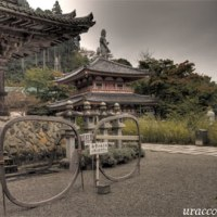 小雨降る壺阪寺(南法華寺)..HDR2