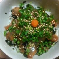 【食】ショウサイフグの漬け丼