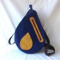 紺とマスタードの雫バッグ♪