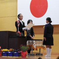 【卒業式】凜とした姿で巣立っていきました。