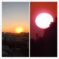 夕日です。綺麗に見えていました。