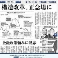 構造改革、正念場に。金融政策頼みに限界 ???