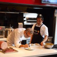 世界のベストレストラン50第1位のオステリア・フランチェスカーナのマッシモ・ボットゥーラ氏によるサルーミ・クッキングショーを見に服部栄養専門学校へ行きました(2017.3.21)@イタリア大使館