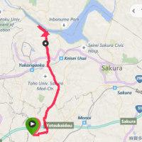 4月23日 朝DMMのち西印旛沼20kmコース