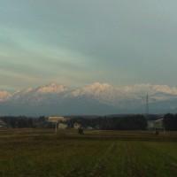 今朝の「立山連峰」は・・・