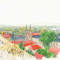 世界わがスケッチの旅 ハンガリー ブダベスト王宮