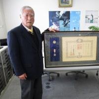 会員2名が表彰を受ける   石川県支部