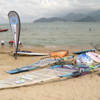 金水湾でウインドサーフィン!!