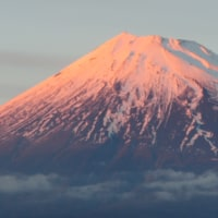 昨日の赤富士と今朝の富士
