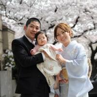 春のお宮参り 家族記念写真の出張撮影プラン