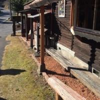 丸太小屋に行きました