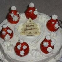 年賀状とケーキ