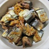 秋刀魚を煮て お芋も煮て