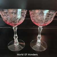 <リクエスト品> アメリカ製 フォストリア シャーベットグラス(ピンク)