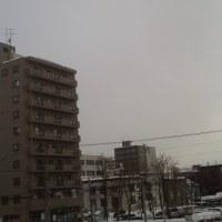 2017/1/20 午前10時前札幌の空模様  本日「大寒」9:50札幌ー3℃