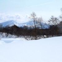 裏磐梯の雪景色に