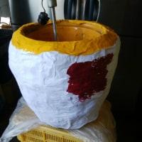 マリえもんとイモ太のジャンボ焼きイモソフトクリーム完成の巻