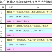 福岡の「舞踊と振袖の着付け専門特別講座」/明後日から三日間
