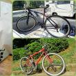 萩原直起と自転車を見せ合う