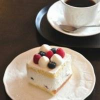 おやつのケーキと弘前珈琲 @ 名人戦第2局2日目青森県弘前市