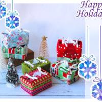 クリスマス柄のティッシュカバーいっぱい