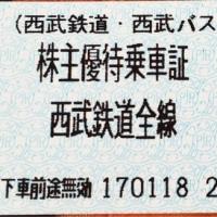 西武鉄道の株主優待乗車証