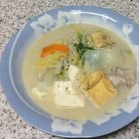 具だくさんの豆乳スープ