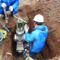 仮設不断水止水栓の設置・・・市川市